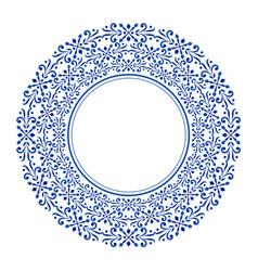 porcelain decorative round vector image