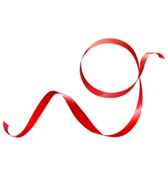 red ribbon in the shape of nines vector image