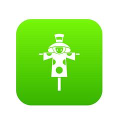 scarecrow icon digital green vector image