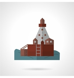 Sea pier flat icon vector image