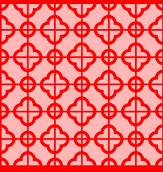 Seamless pattern geometry asian vector