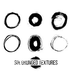 Set of dirty scratched splattered elements vector image