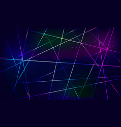 Shining blue abstract background crossing rays vector