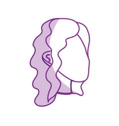 Silhouette beauty woman face with hairstyle vector