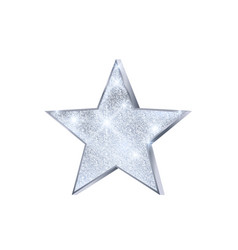 silver star christmas decoration luxury and vector image
