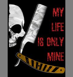 Skull a mark danger warning t-shirt vector