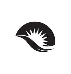 sun waves simple flat silhouette logo vector image