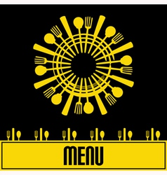 Sunshine Menu vector image