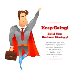 Superhero businessman poster vector