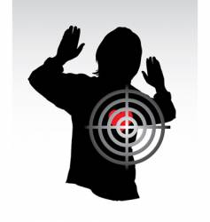 target and heart vector image vector image