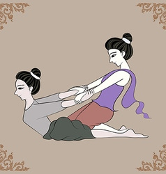 Thai massage vector