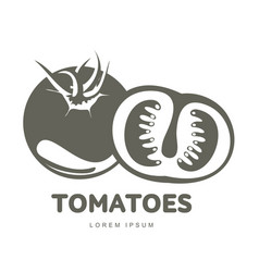 tomatoes logo templates vector image