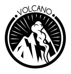 Volcano hill logo simple style vector