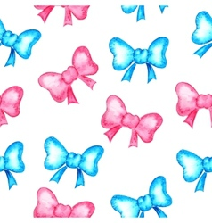 Watercolor background Bows vector