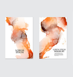 watercolor stain blob in orange colors grunge vector image