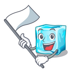 With flag ice cubes on the cartoon funny vector