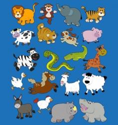 animals kid drawings vector image