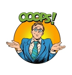 oops problem man business concept vector image vector image