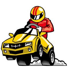 Racing car vector
