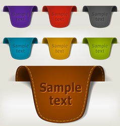 set of leather tag labels vector image
