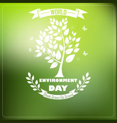 World environment day with shape typography trees vector