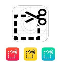 Cut square icon vector image
