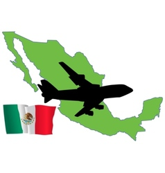 fly me to the Mexico vector image vector image