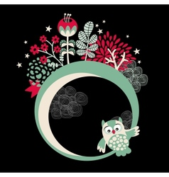 Owls banner for your beautiful card vector image
