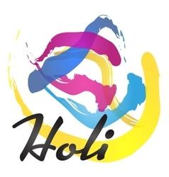 Happy holi spring festival vector