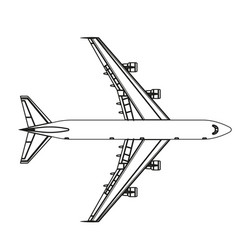 airplane outline icon plane flat isolated line vector image vector image