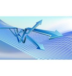 Glass arrows vector image