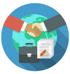 International Business Cooperation vector image vector image