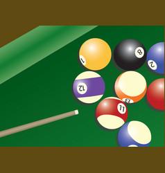 Pool table and balls vector