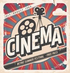 Retro cinema poster vector