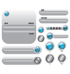 Web elements set icon vector image vector image