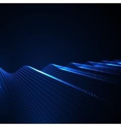 3D illuminated abstract digital wave vector image