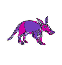 Aardvark mosaic vector