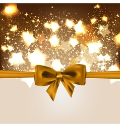 Abstract Christmas background with bow vector