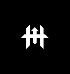 Abstract monogram letter h logo icon design vector