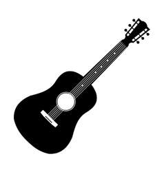 Acoustic guitar black icon vector image