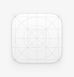 Application icon template with guidelines grids vector