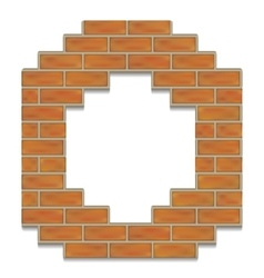 Brick digits vector
