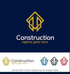 Building logo template vector