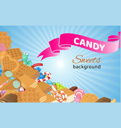 candy confectionery and sweets dessert lollipop vector image