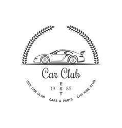 Car club logotype vector