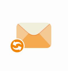check email envelope mail refresh icon vector image vector image
