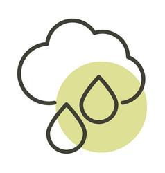 Cloud rain alternative sustainable energy line vector