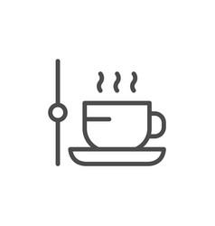 Coffee break line outline icon vector