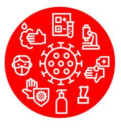 coronavirus protection icon vector image