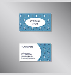 creative business card with traditional ornament vector image
